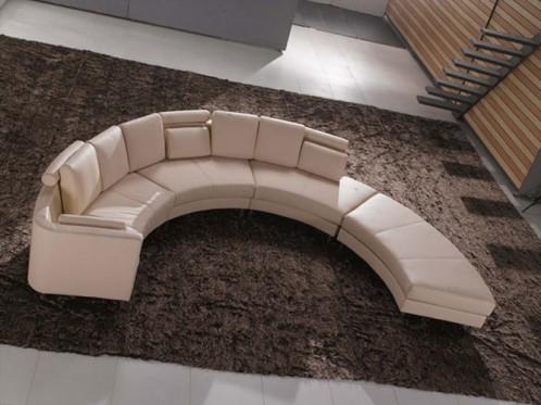 A53 Cream Beige Contemporary Sectional Sofa
