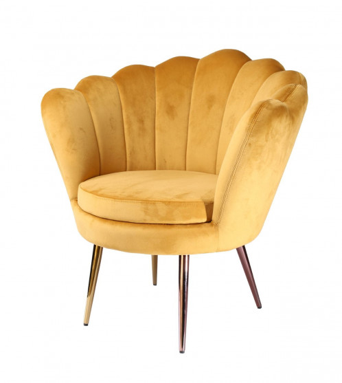 Modrest Balina - Transitional Gold Accent Chair