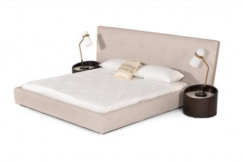 Modrest Brittany - Modern Grey Fabric Bed