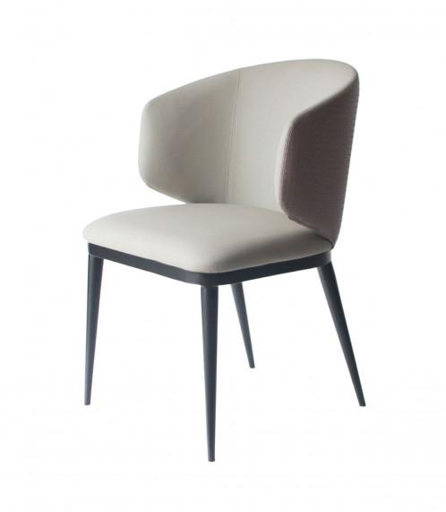 Modrest Caplan - Modern Beige Leatherette Dining Armchair