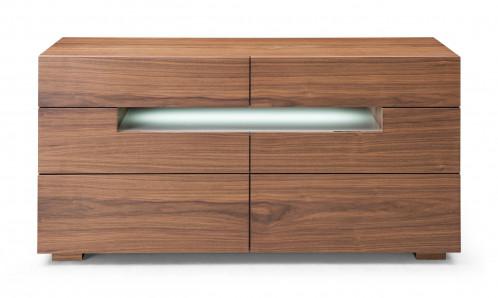 Modrest Ceres - Contemporary LED Walnut Dresser