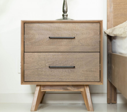 Modrest Claire - Contemporary Walnut NIghtstand