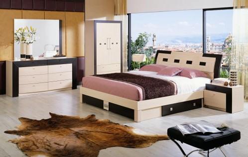 Concorde Modern Bedroom Set with Storage