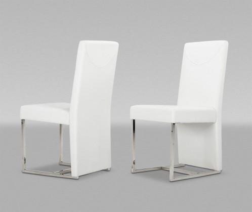 Modrest Vanessa Modern White Leatherette Dining Chair (Set of 2)
