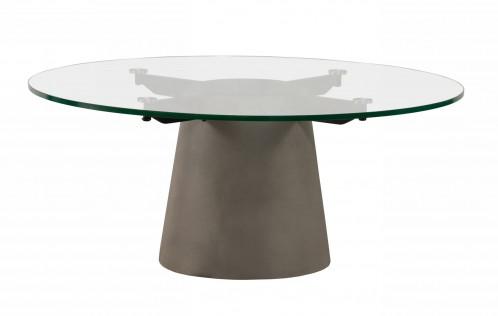 Nova Domus Essex - Contemporary Concrete, Metal and Glass Coffee Table