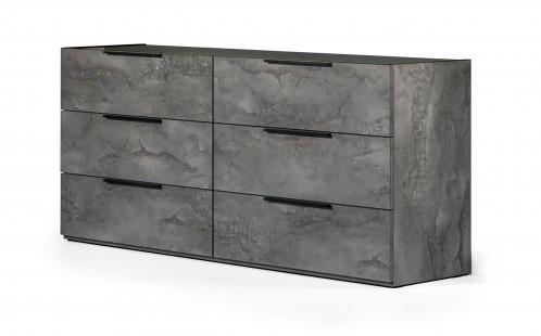 Nova Domus Ferrara - Modern Volcano Oxide Grey Dresser