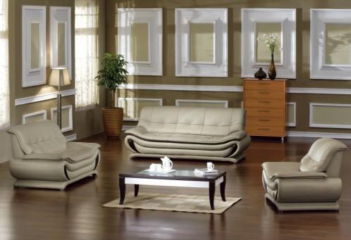 Madrid Modern Bonded Leather Sofa Set
