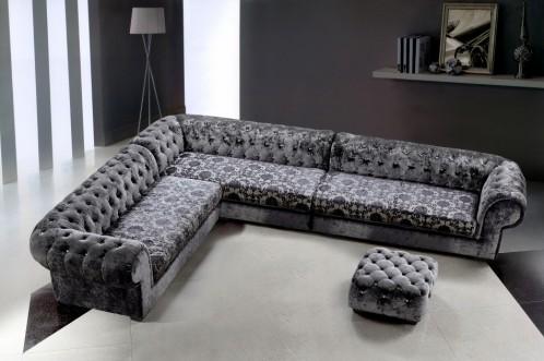 Metropolitan Micro Fiber Sectional Sofa & Ottoman