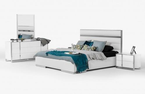 Nova Domus Francois Modern White Bedroom Set