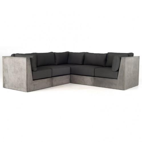 Modrest Indigo Contemporary Grey Concrete Sectional Sofa