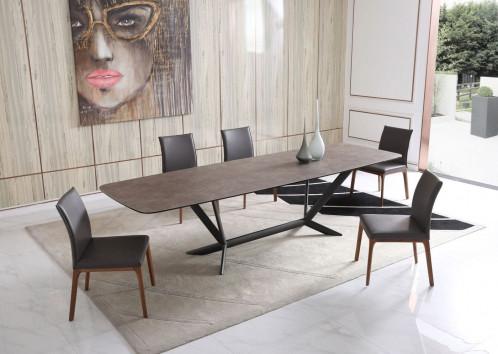 Modrest Herzog - Modern Grey Ceramic Dining Table