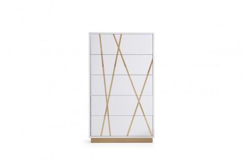 Modrest Nixa Modern White & Gold Chest