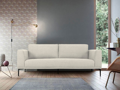 Divani Casa Jada - Modern Light Beige Fabric Loveseat