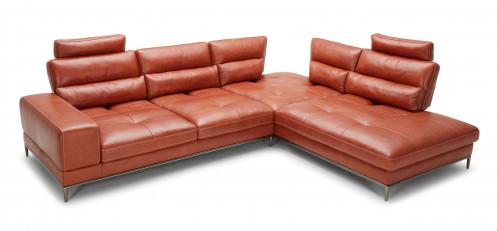 Divani Casa Kudos - Modern Cognac RAF Chaise Sectional Sofa