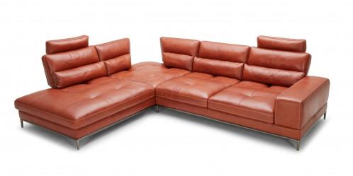 Divani Casa Kudos - Modern Cognac LAF Chaise Sectional Sofa