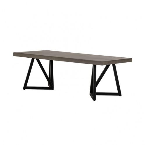 Modrest Richmond Modern Concrete & Black Metal Coffee Table