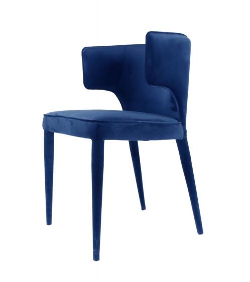 Modrest Lucero - Modern Blue Velvet Dining Armchair