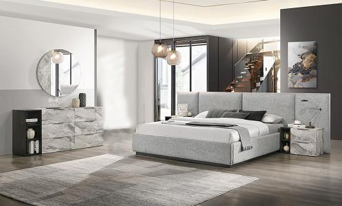Nova Domus Maranello - Modern Grey Bed Set