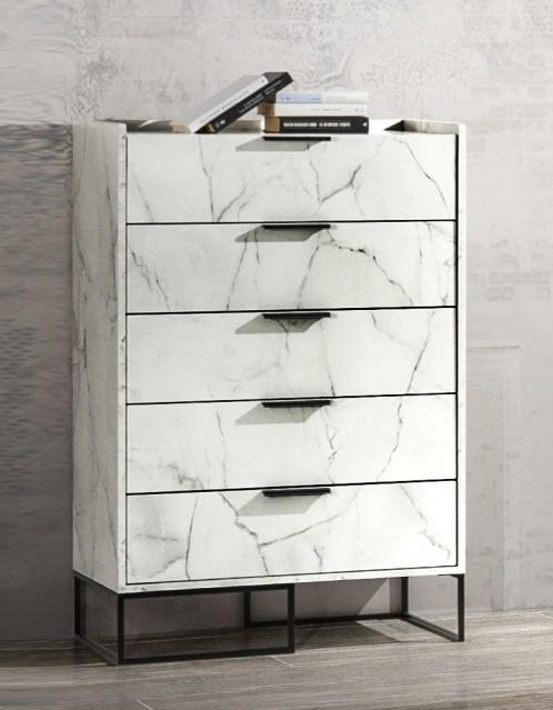 Nova Domus Marbella - Italian Modern White Marble Chest