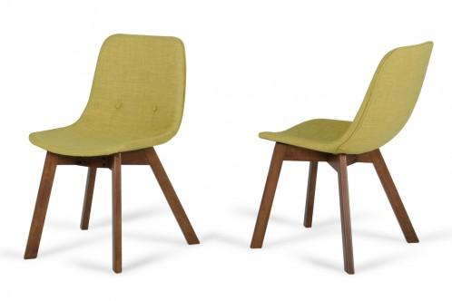 Laken - Modern Green Tea & Walnut Dining Chair (Set of 2)