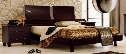 Miss Italia 04 Modern Espresso Platform Bed w/ Nightstands