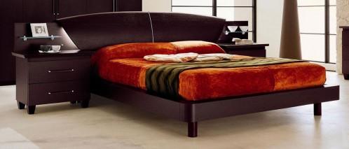 Miss Italia 05 Modern Espresso Platform Bed w/ Nightstands