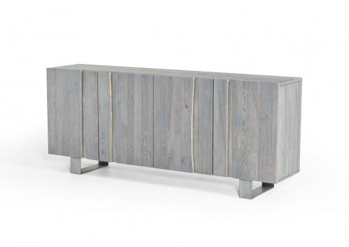 Modrest Murphy Modern Grey Aged Oak Buffet w/ Vertical Line