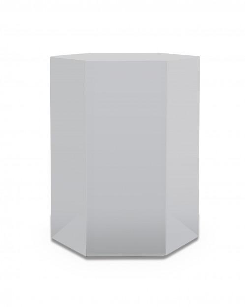 Modrest Newmont - Large Light Grey High Gloss End Table