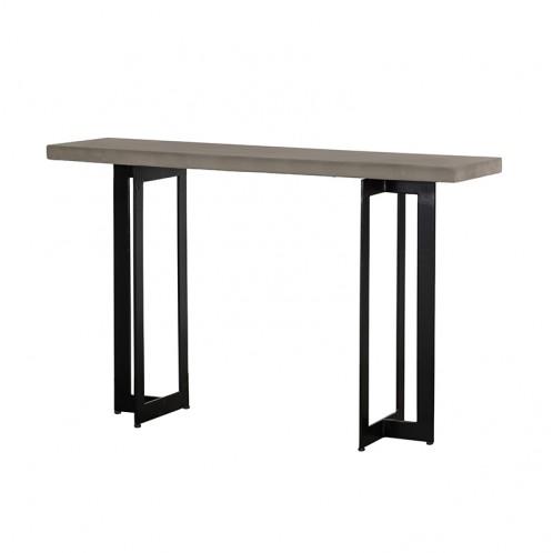 Modrest Sharon Modern Concrete & Black Metal Console Table