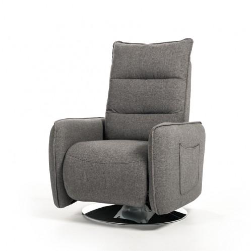 Divani Casa Fairfax Modern Grey Fabric Recliner Chair