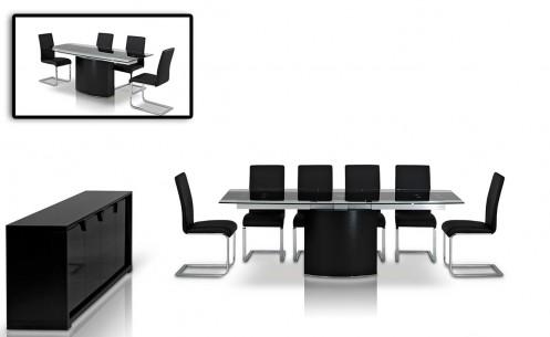 Modrest Remix Modern Extendable Glass Table