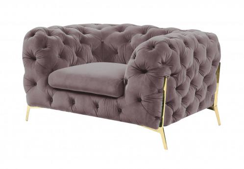 Divani Casa Sheila - Transitional Silver Fabric Chair