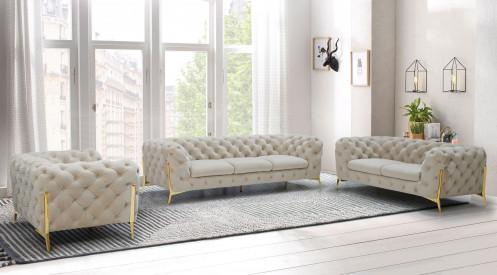 Divani Casa Sheila - Transitional Beige Fabric Sofa Set