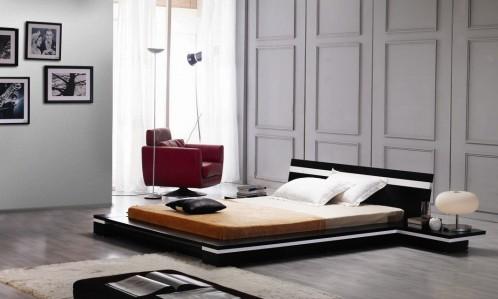 Sonata Platform King Bed in Wenge