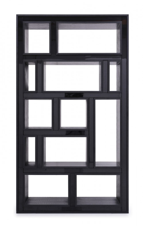 Modrest Suffolk - Contemporary Black Ash Bookcase