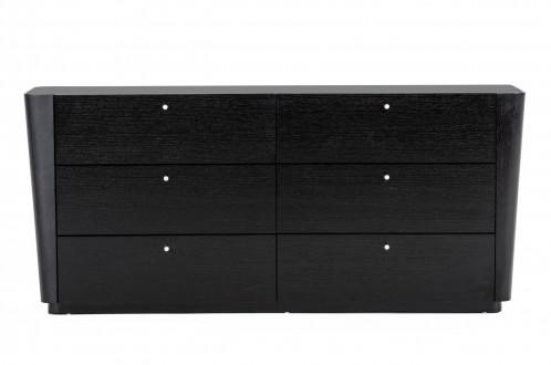 Modrest Symphony- Modern Black Oak Dresser