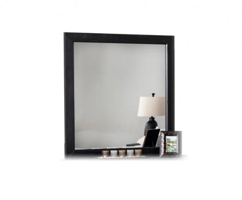Modrest Tabitha Modern Dark Brown Recycled Pine Mirror