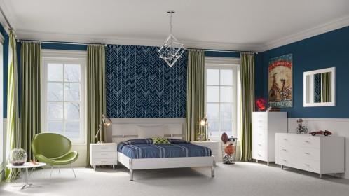 Modrest Bravo Modern White Bedroom Set