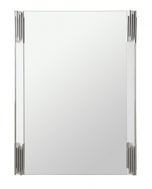 Modrest Token - Modern White & Stainless Steel Mirror
