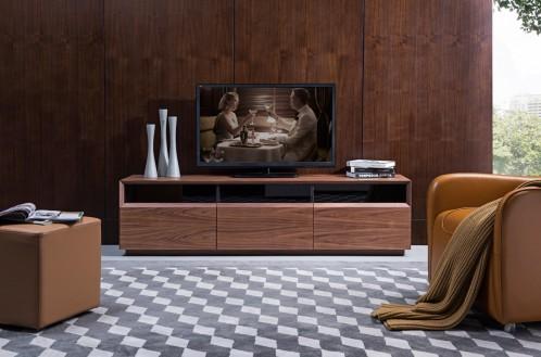 Modrest Terrance Modern Walnut TV Stand