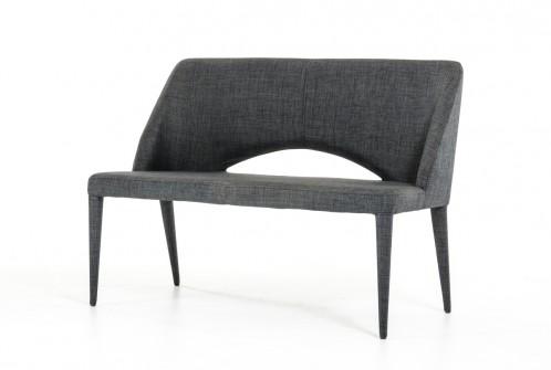 Modrest Williamette Mid-Century Dark Grey Fabric Bench