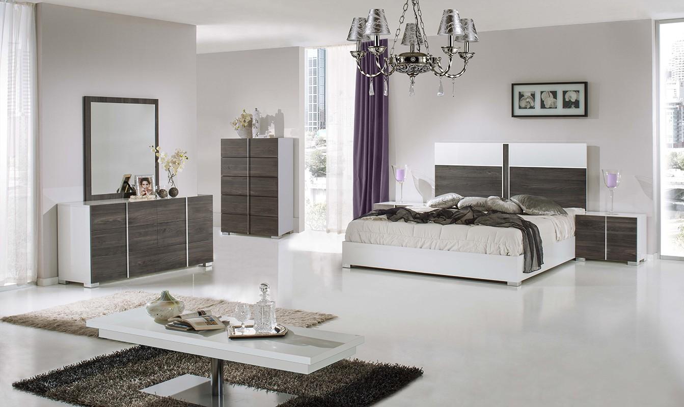 Nova Domus Corrado Italian Modern White Grey Bedroom Set
