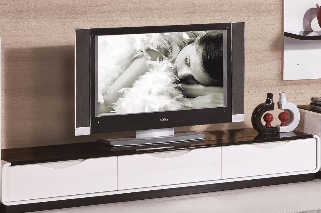 modrest 2016 modern white and black tv stand. Black Bedroom Furniture Sets. Home Design Ideas