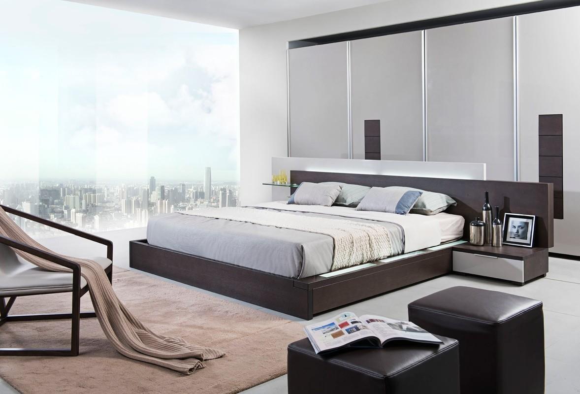 Modern Queen Bedroom Sets modrest gamma modern queen bedroom set with storage and mattress