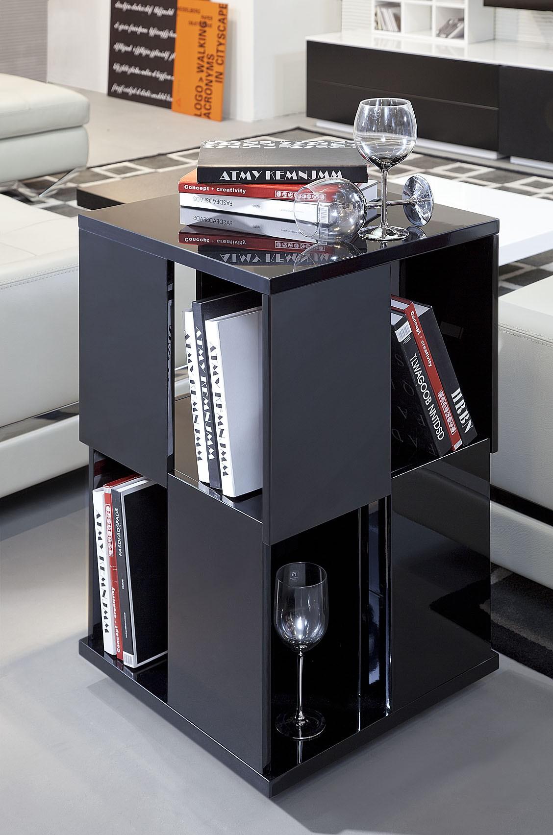 modern black lacquer magazine rack - edifice modern black lacquer magazine rack