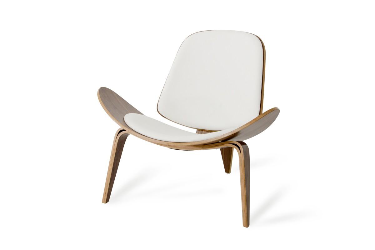 Groovy Modrest Warren Mid Century White Walnut Accent Chair Theyellowbook Wood Chair Design Ideas Theyellowbookinfo