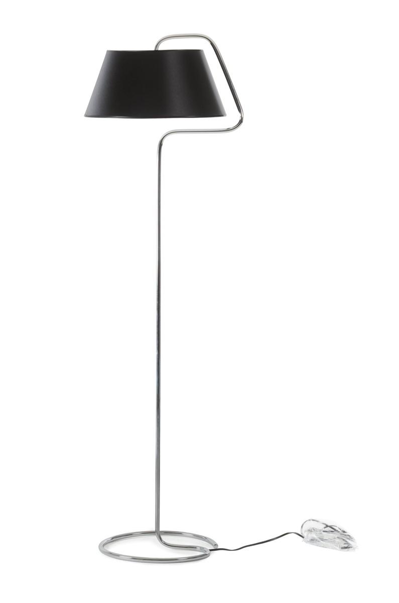 Modrest fk1050 chrome and black floor lamp for Mayer floor lamp black chrome