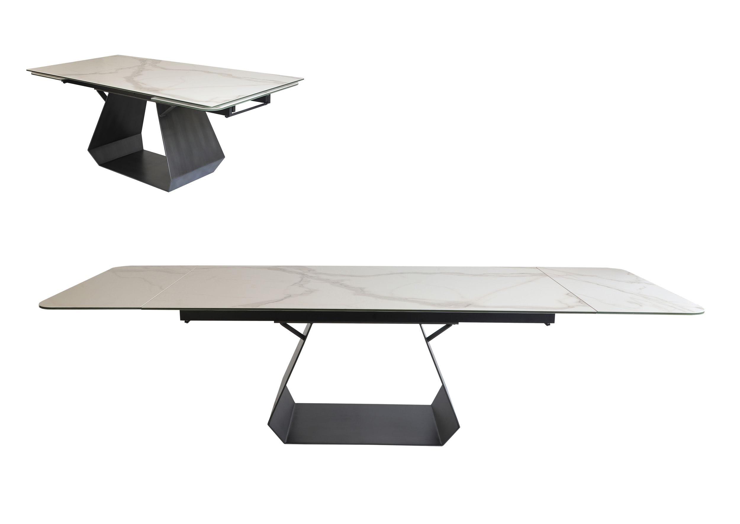 Modrest Howell - Modern White Ceramic Extendable Dining Table