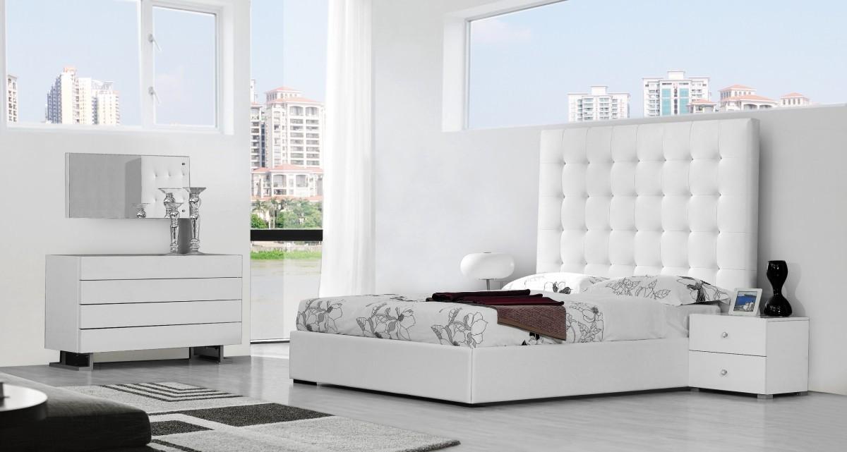 Bedroom Furniture White High Gloss lyrica modern white bedroom set