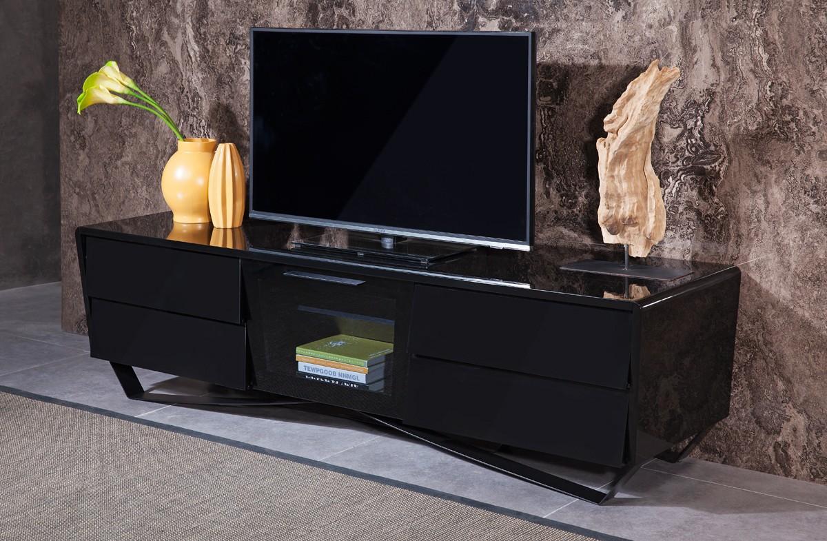 domus max modern black tv stand - nova domus max modern black tv stand